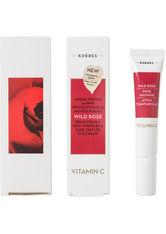 Korres natural products Wild Rose Augencreme für strahlenden Teint bei ersten Falten und Augenringen