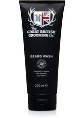 THE GREAT BRITISH GROOMING CO. - The Great British Grooming Co. Bartshampoo »Beard Wash«, schwarz, 200 ml, schwarz,weiß - BARTPFLEGE