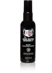 THE GREAT BRITISH GROOMING CO. - The Great British Grooming Co. Bartserum »Beard Thickening Serum«, schwarz, 100 ml, schwarz,weiß - BARTPFLEGE