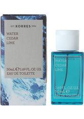 KORRES Produkte Water Cedar Lime Eau de Toilette Spray Eau de Toilette (EdT) 50.0 ml