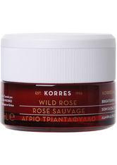 Korres natural products Wild Rose - Regenerierende Nachtcreme für strahlenden Teint und erste Falten