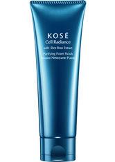Kosé Cell Radiance Rice Bran Extract Purifying Foam Wash 125 ml Reinigungscreme