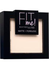 Maybelline New York Fit Me Matte & Poreless Puder 100 Warm Ivory