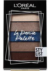L'ORÉAL PARIS Lidschatten-Palette »La Petite Palette Stylist«, Puder-zu-Creme-Textur