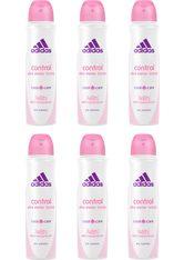 adidas Performance Deo-Spray »Control«, Spar-Set, 6-tlg., Anti-Transpirant Spray für Frauen