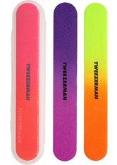 "Tweezerman Retail Collection - Nagelfeilen ""Neon Filemates"", 3-tlg., mehrfarbig"