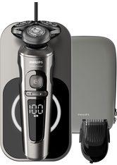 Philips Elektrorasierer SP9860/16, Aufsätze: 1, mit Nano-Tech Präzisionsklingen, Bartstyler, Qi-Ladepad