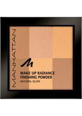 Manhattan Wake Up Radiance Finishing Powder Kompaktpuder 8 g Nr. 002 - Honey