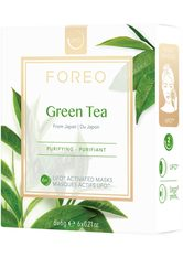 FOREO Tuchmaske »Green Tea«, 6 x 6 g, kompatibel mit UFO & UFO mini