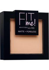 MAYBELLINE - MAYBELLINE NEW YORK Puder »FIT ME«, matte + poreless, natur, 130 buff beige - GESICHTSPUDER