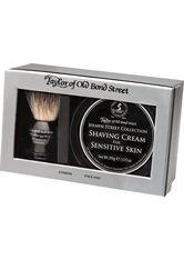 Taylor of old Bond Street Herrenpflege Jermyn Street Collection Geschenkset Rasierpinsel + Shaving Cream für Sensitive Skin 150 g 1 Stk.