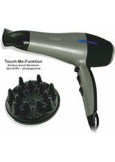 EXQUISIT - exquisit Ionic-Haartrockner HT 6101, 2200 W, Touch-Me-Funktion, grau, grau-schwarz - HAARTROCKNER