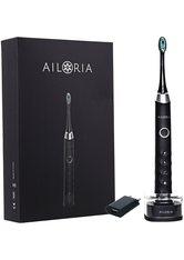 Ailoria Shine Bright USB-Schallzahnbürste schwarz-silber inkl. 2 Bürstenköpfe & USB Power Plug Zahnbürste 1.0 pieces