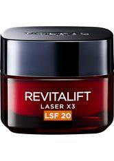 L'Oréal Paris Tagescreme Revitalift Laser X3 Tagespflege LSF 20 Gesichtscreme 50 ml