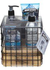 MAN'STUFF - MAN'STUFF Geschenk-Set »Body Care Essentials«, 5-tlg., blau, blau - DUSCHEN