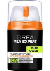 L'ORÉAL PARIS MEN EXPERT - L'ORÉAL PARIS MEN EXPERT Feuchtigkeitscreme »Pure Power«, bekämpft Hautunreinheiten, ohne auszutrocknen - GESICHTSPFLEGE