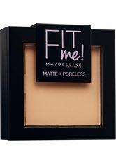 MAYBELLINE - MAYBELLINE NEW YORK Puder »FIT ME«, matte + poreless, natur, 220 natural beige - GESICHTSPUDER