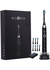 Ailoria Shine Bright USB-Schallzahnbürste schwarz-silber inkl. 8 Bürstenköpfe & USB Power Plug Zahnbürste 1.0 pieces