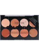 TECHNIC - technic , »Colour Max Cream Foundation Contour«, Contour-Palette, 8-tlg. Set - LIDSCHATTEN