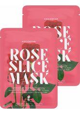 KOCOSTAR - KOCOSTAR Kocostar, »Rose Slice Mask«, regenierende Gesichtsmaske (2-tlg.), 2-tlg. Set - TUCHMASKEN