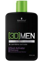 Schwarzkopf Professional Haarshampoo »[3D] Men Root Activator Shampoo«, 1-tlg., aktiviert Haarwachstum