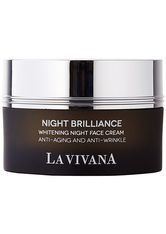 LA VIVANA - LA VIVANA Night Brilliance Whitening Face Cream 50 Milliliter - TAGESPFLEGE