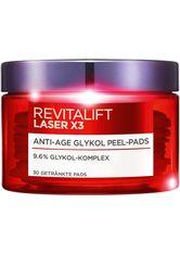 L'ORÉAL PARIS - L'ORÉAL PARIS Toner »RevitaLift Laser X3 Anti-Age Glykol Pads«, Glykolsäure-Komplex mit glättenden Aktivstoffen - Makeup Entferner