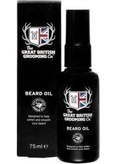 THE GREAT BRITISH GROOMING CO. - The Great British Grooming Co. Bartöl »Beard Oil«, schwarz, 75 ml, schwarz,weiß - BARTPFLEGE