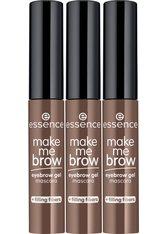 Essence Augenbrauen-Farbe »make me BROW eyebrow gel mascara«, 3-tlg.