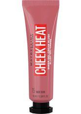 MAYBELLINE - Maybelline Cheek Heat Water Infused Hydrating Gel Sheer Blusher 10ml 15 Nude Burn - Rouge