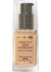 Max Factor Make-Up Gesicht Healthy Skin Harmony Miracle Foundation Nr. 45 Warm Almond 30 ml