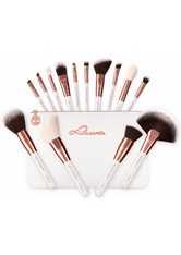 LUVIA - Luvia Cosmetics Kosmetikpinsel-Set »Essential Brushes - Feather White«, 15 tlg., vegan - Makeup Pinsel