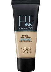 MAYBELLINE - Maybelline Fit Me! Matte and Poreless Foundation 30 ml (verschiedene Farbtöne) - 128 Warm Nude - FOUNDATION