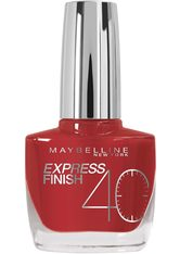 MAYBELLINE - MAYBELLINE NEW YORK Nagellack »Express Finish Shock Control«, rot, Nr. 505 cherry - NAGELLACK
