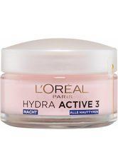 L´Oréal Paris Hydra Active 3 Nacht - Intensive Feuchtigkeitspflege Gesichtscreme 50.0 ml