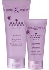 CHIARA AMBRA Pflege-Set »SET BLACK FOREST PURE«, 2-tlg., Bodylotion plus Handbalsam gratis