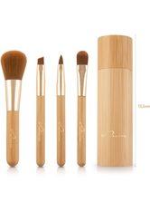 Luvia Cosmetics Kosmetikpinsel-Set »Travel Bamboo Tube«, 4 tlg.