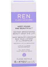 Ren Clean Skincare - Keep Young And Beautiful ™ Instant Brightening Beauty Shot Eye Lift - Augenpflege
