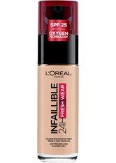 L'Oréal Paris Infaillible 24H Fresh Wear Make-up 25 Rose Ivory Foundation 30ml Flüssige Foundation