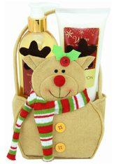 GLOSS! Pflege-Geschenkset, mit niedlicher Rentier-Tasche