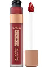 L'Oréal Paris Les Chocolats Ultra Matte Liquid Lipstick (verschiedene Farbtöne) - 864 Tasty Ruby