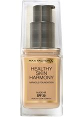 MAX FACTOR - Max Factor Healthy Skin Harmony Foundation 30ml 47 Nude (Light, Neutral) - FOUNDATION