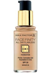 MAX FACTOR - Max Factor Face Finity All Day Flawless 3 in 1 Foundation 80 Bronze 30 ml - FOUNDATION