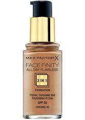 MAX FACTOR - Max Factor Face Finity All Day Flawless 3 in 1 Foundation 30ml 85 Caramel (Dark, Cool) - FOUNDATION