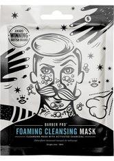 BARBER PRO Gesichtsmaske »Foaming Cleansing Mask«, selbstschäumende Vlies-Reinigungsmaske