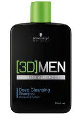 Schwarzkopf Professional Haarshampoo »[3D] Men Deep Cleansing Shampoo«, 1-tlg., Tiefenreinigung