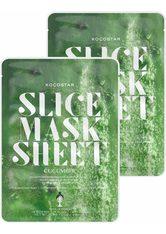 KOCOSTAR - KOCOSTAR Gesichtsmasken-Set »Slice Mask Sheet Cucumber«, 2-tlg., feuchtigkeitsspend und beruhigend - TUCHMASKEN