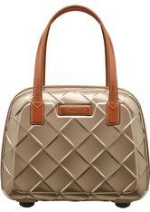 STRATIC - Stratic Beauty Case, »Leather & More«, goldfarben, Champagne - KOSMETIKTASCHEN & KOFFER