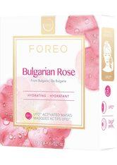 FOREO Tuchmaske »Bulgarian Rose« Packung, 6 x 6 g, kompatibel mit UFO & UFO mini