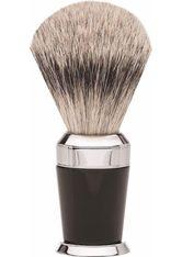 Erbe Shaving Shop Premium Design PARIS Rasierpinsel Silberspitz Edelharz schwarz